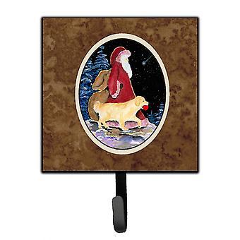 Carolines Treasures  SS8973SH4 Santa Claus with  Golden Retriever Leash Holder o