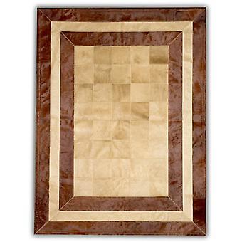 Tepper - lappeteppe skinn Cubed okseskinn - SR2 Beige & Brown