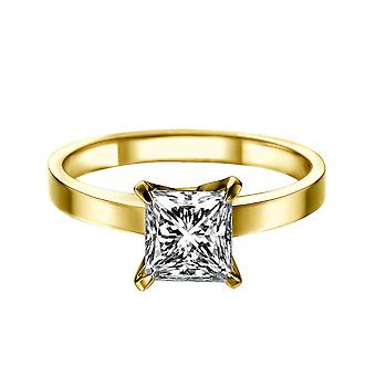 1.35 Carat D SI1 Diamond Engagement Ring 14K Yellow Gold Solitaire 4 Prongs Classic