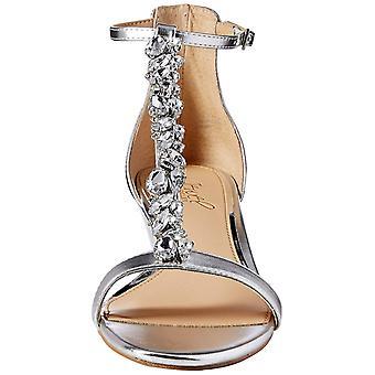 Jewel Badgley Mischka Women's DARRELL Sandal, silver/metallic, 8.5 M US