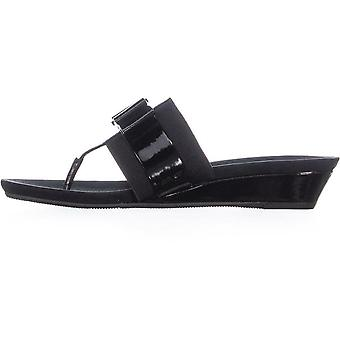 Anne Klein Womens Imperial Open Toe Casual Slide Sandals