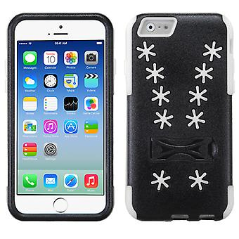 Asmyna Inverse Advanced Armor Stand Case pour iPhone 6/6S - White Snowflake/Black