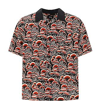 Stussy 1110105red Men-apos;s Red Cotton Polo Shirt