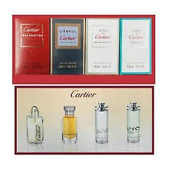 Cartier Miniaturas para Hombres Juego de Regalo 4ml Declaración EDT + 5ml L'Envol EDP + 5ml Eau de Cartier EDT + 5ml Eau de Cartier Concentree EDT