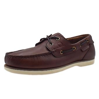 Chatham Marine Newton Made In Britain Men's Leather Deck Shoes In Coffee