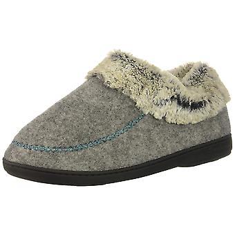 Dearfoams Women's Shoes Felted Faux Wool Bootie Wool Closed Toe Slip On Slipp...