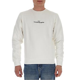 Maison Margiela S50gu0148s25451101 Heren's White Cotton Sweatshirt