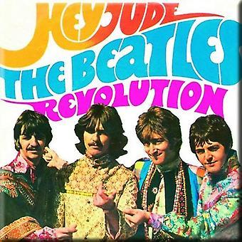 Die Beatles Kühlschrank Magnet Hey Jude Revolution neue offizielle 76 x 76 mm