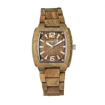 Earth Wood Sagano Bracelet Watch w/Date - Olive