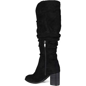 JC JOURNEE COLLECTION Women's Shoes ANEIL-TAU-065 Suede Closed Toe Knee High ...