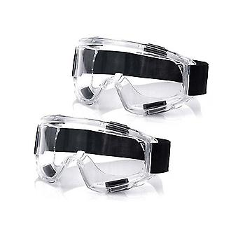 2X Clear Protective Eye Glasses Safety Windproof Lab Goggles Eyewear