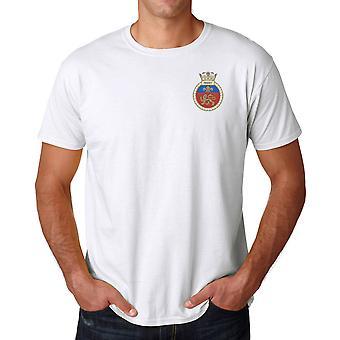 HMS Mersey brodert logo - offisielle Royal Navy ringspunnet bomull T skjorte