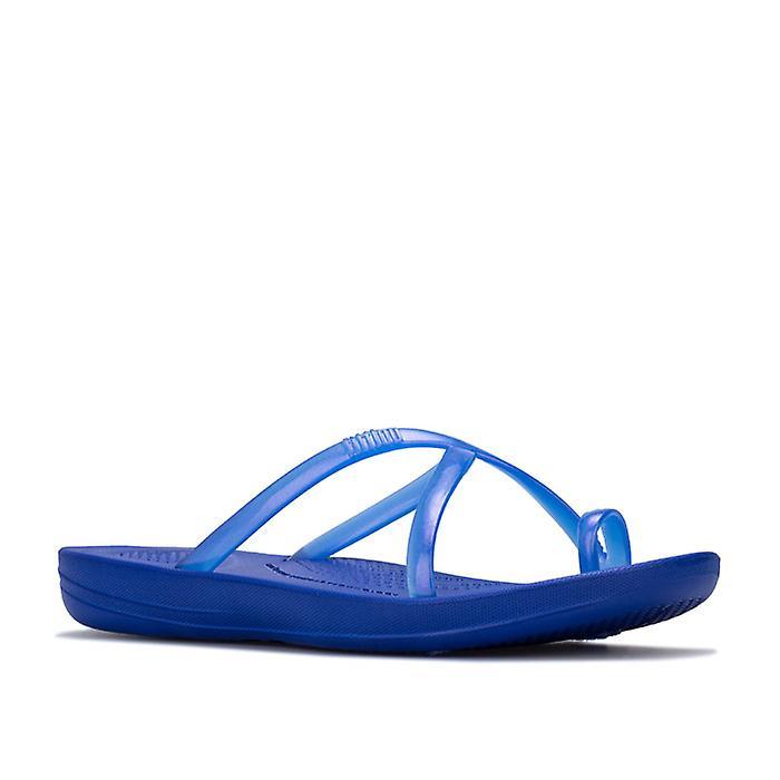 Kvinners&s Fit Flop Iqushion Wave Pearlised Sandaler I Blått
