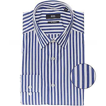 BOSS استرخاء تناسب قميص فيريس مخطط
