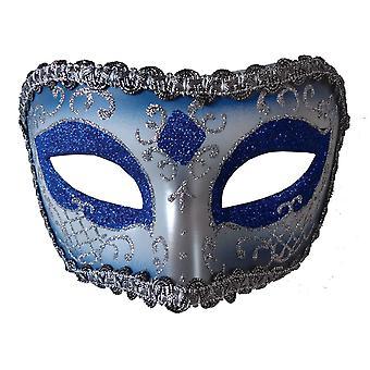 Opéra médiéval masque bleu Silver pour Masquerade