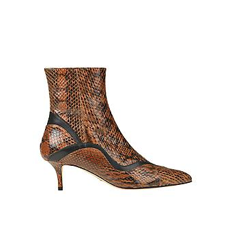 Paula Cademartori Ezgl058006 Women's Brown Leather Ankle Boots