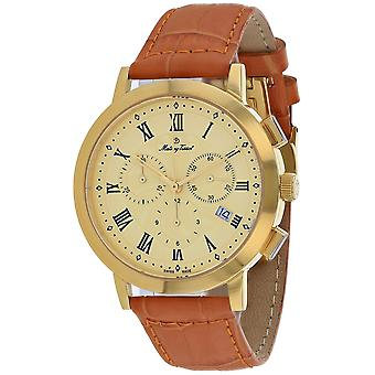 Mathey Tissot Men's Sport Classic Gold Dial Watch - H9315CHRLPDI