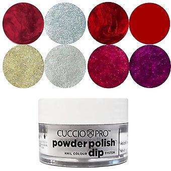 Cuccio Pro Poeder polish Nail Colour Dip System Dipping Powder - Happy Soiree Collection Set (8 X 14g) (9212)
