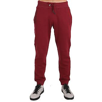 Versace Jeans Training Sport Red Cotton Trousers