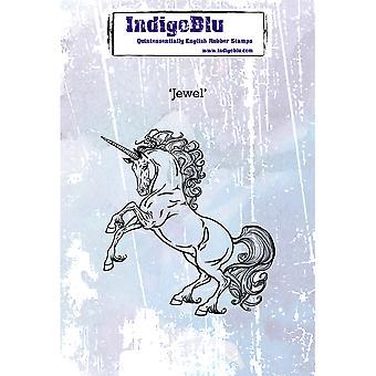 IndigoBlu Jewel A6 Rubber Stamp