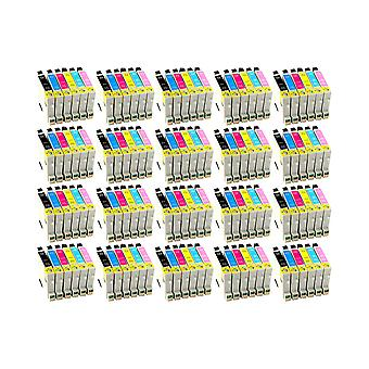 RudyTwos 20x Replacement for Epson Hummingbird Ink Unit Black Cyan Magenta Yellow Light Cyan & Light Magenta Compatible with Stylus Photo P50, PX650, PX660, PX700W, PX710W, PX720WD, PX800FW, PX810FW,