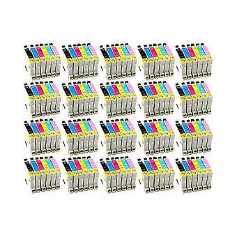 استبدال 20 x روديتوس لوحدة الحبر أبسون الطنان الأسود سماوي ماجنتا الأصفر الخفيفة السماوي & الخفيفة الأرجواني متوافقة مع إبرة الفونوغراف الصور P50، PX650، PX660، PX700W، PX710W، PX720WD، PX800FW، PX810FW،