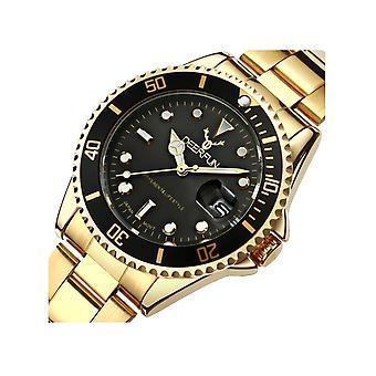 Genuine Deerfun Homage Watch Black Gold Date Watches Top Submariner Sale