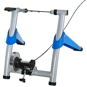 """HOMCOM Indoor Bicycle Trainer Workout Stand Steel Frame 8 Level Magnetic Resistance Home Exercise Training for 650C, 700C or 26""""-29"""" Bike"""