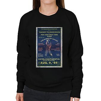 DJ International Kings Of House '86 Poster Women's Sweatshirt