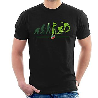 Mountain Dew Evolution Of A Skater Men's T-Shirt