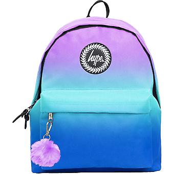 Hype Violet Fade Pom Pom Backpack Bag Multi 16