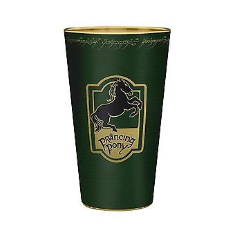 Lord of the Rings Prancing Pony Large Glass