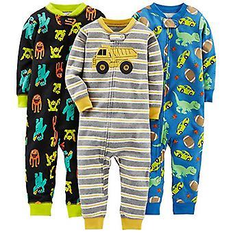 Simple Joys de Carterăs Baby Boysă 3-Pack Snug Fit Footless Cotton Pijamale, M...
