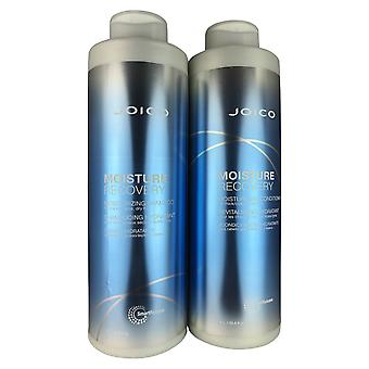 Joico moisture recovery hair shampoo & conditioner for dry hair duo 33.8 oz each