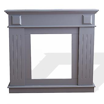 Rebecca Furniture Frame Fireplace Fake Fireplace Mdf Modern Grey 100x109x26