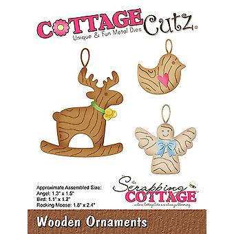 Scrapping Cottage Wooden Ornaments