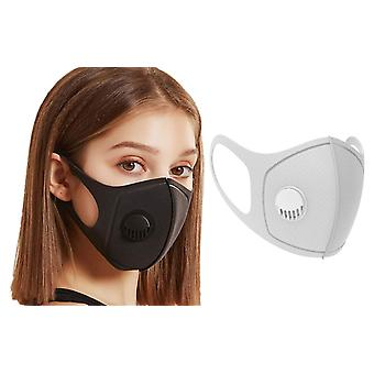6x Face Mask with breathing valve, Grey, Washable Mouth Guard