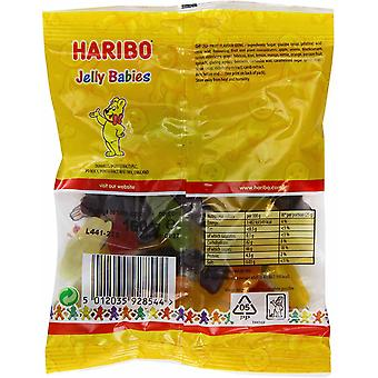 HARIBO Jelly Babies 0.98kg, bulk sweets, 6 packs of 160g