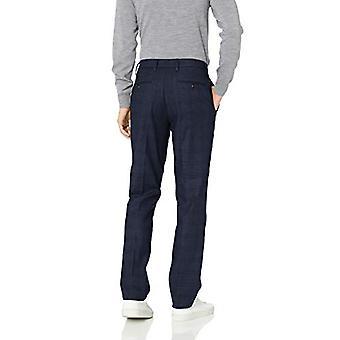 Goodthreads Men's Athletic-Fit Wrinkle Free Dress Chino Pant, Navy Glen Plaid, 42W x 29L