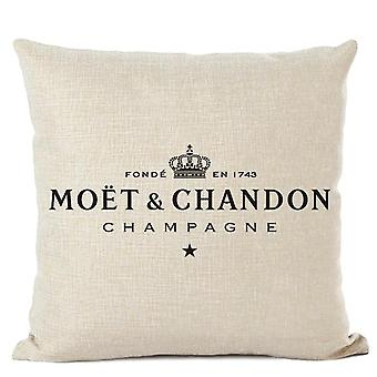 Luxury Linen High Quality Printed Text Decorative Pillow Case