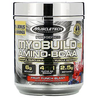 Muscletech, MyoBuild 4X Amino-BCAA, Fruit Punch Blast, 11.71 oz (332 g)