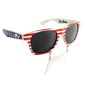Sun-Staches - Red White and Blue Patriot Toy Sunglasses SG1090