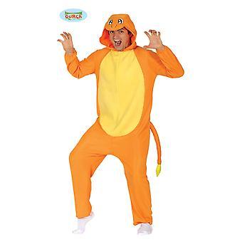 Guirca lucertola Dino del Carnevale Costume adulto unisex Drago arancione