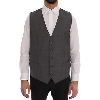 Dolce & Gabbana Gri Yün Resmi Elbise Yelek VE11013-1