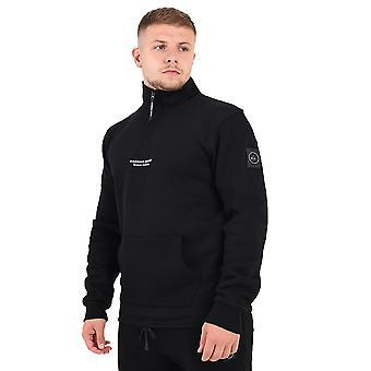 Marshall Artist Siren Half Zip Sweatshirt - Black-L