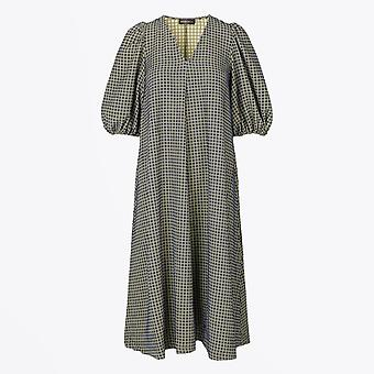 Stine Goya  - Mavelin Grid Print Dress - Green