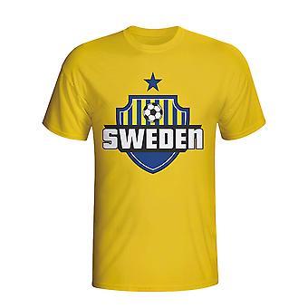 Sweden Country Logo T-shirt (yellow) - Kids