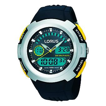 Lorus Mens Dual Display Chronograph Watch with Resin Strap (Model No. R2323DX9)