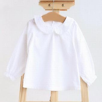 Baby Shirts Top Cotton Long Sleeve Soft Newborn Buttons Clothes