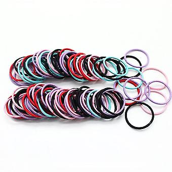 Girls Candy Colors Nylon 3cm Elastic Bands Sicuro Elastico Capelli Ponytail Holder,